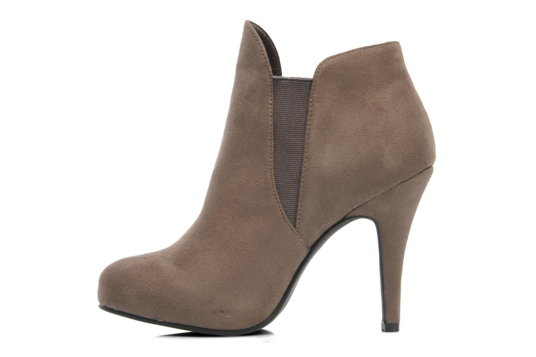 Bottines et boots Divine Factory D-raille Gris vue face