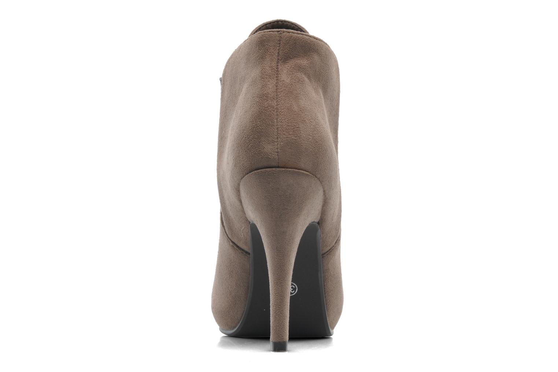 Bottines et boots Divine Factory D-raille Gris vue droite