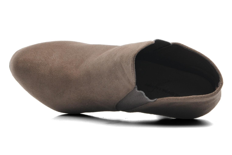 Bottines et boots Divine Factory D-raille Gris vue gauche