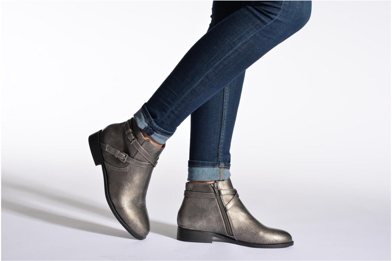 Bottines et boots Divine Factory D-cable Marron vue bas / vue portée sac