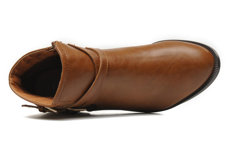 Bottines et boots Divine Factory D-cable Marron vue gauche