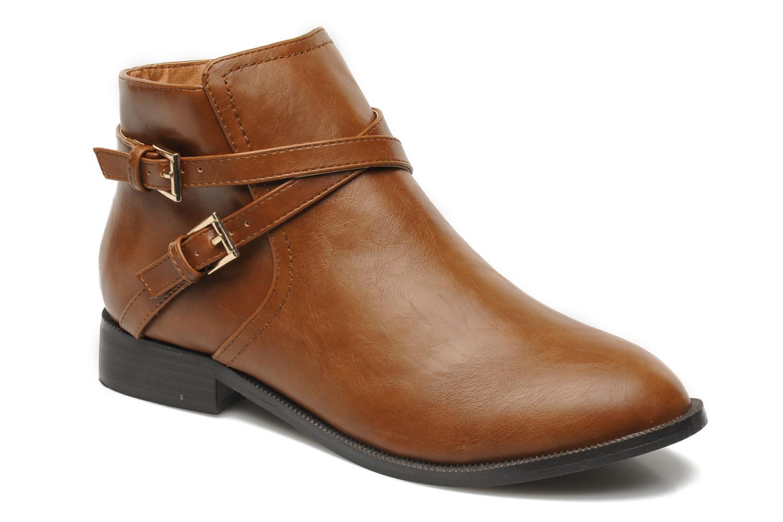 Bottines et boots Divine Factory D-cable Marron vue détail/paire
