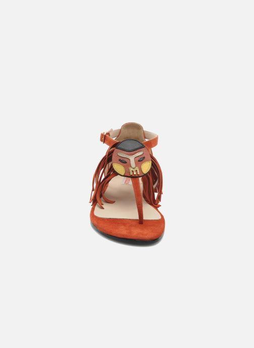 Sandales et nu-pieds MySuelly Mel Marron vue portées chaussures