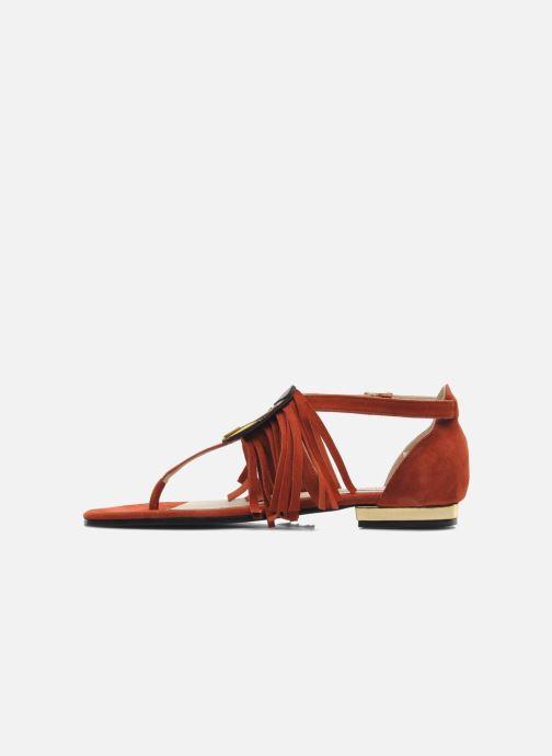 Sandales et nu-pieds MySuelly Mel Marron vue face