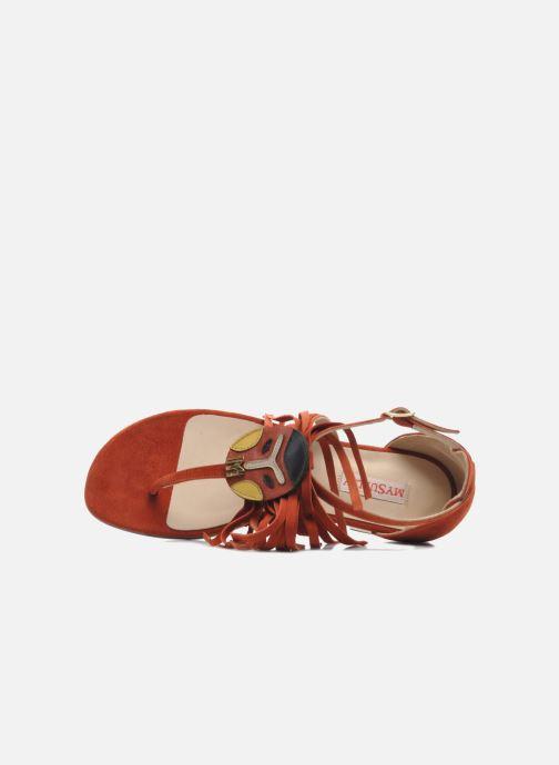 Sandales et nu-pieds MySuelly Mel Marron vue gauche