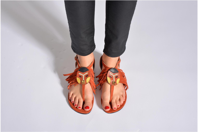 Sandales et nu-pieds MySuelly Mel Marron vue bas / vue portée sac