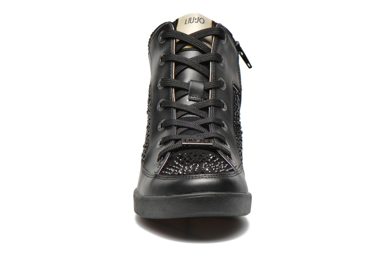 Baskets Liu Jo Sneaker Alta Aura Noir vue portées chaussures