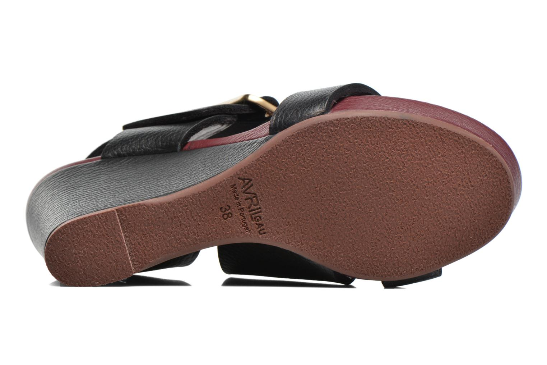 Sandales et nu-pieds Avril Gau Largo Noir vue haut