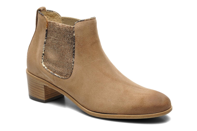 Bottines et boots Georgia Rose Parmak Beige vue détail/paire