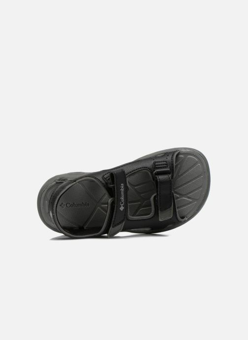 Sandals Columbia Childrens Techs Black view from the left