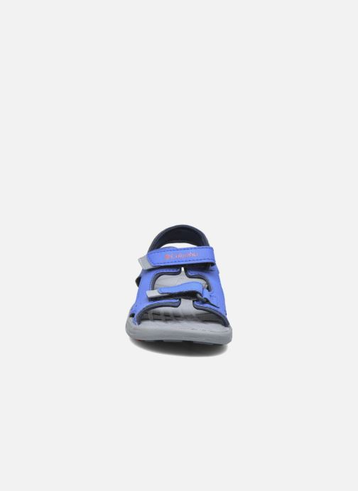 Sandalias Columbia Childrens Techs Azul vista del modelo