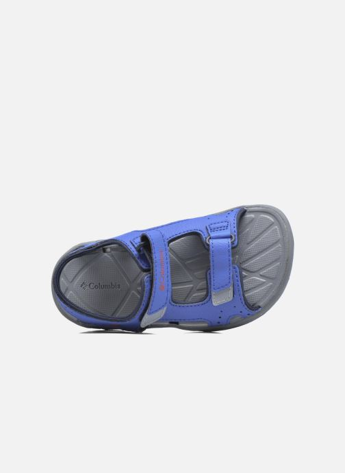 Sandalias Columbia Childrens Techs Azul vista lateral izquierda