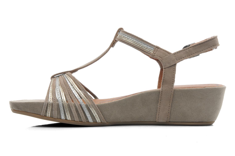 Sandales et nu-pieds Tamaris Khloé Gris vue face