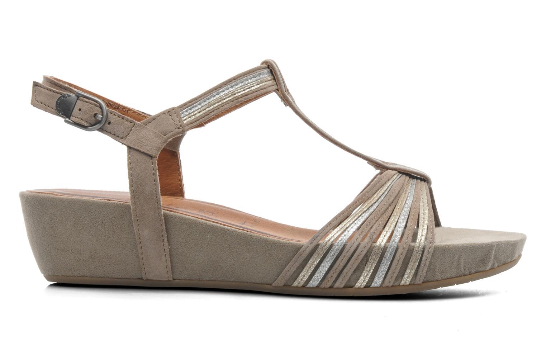 Sandales et nu-pieds Tamaris Khloé Gris vue derrière