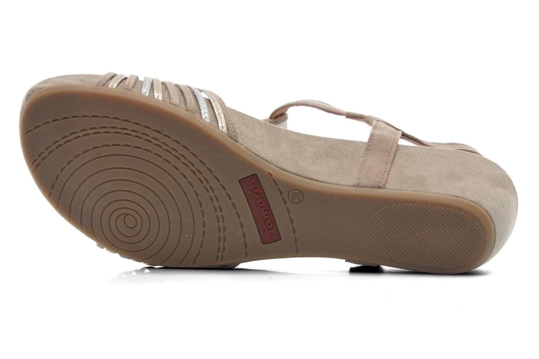 Sandales et nu-pieds Tamaris Khloé Gris vue haut