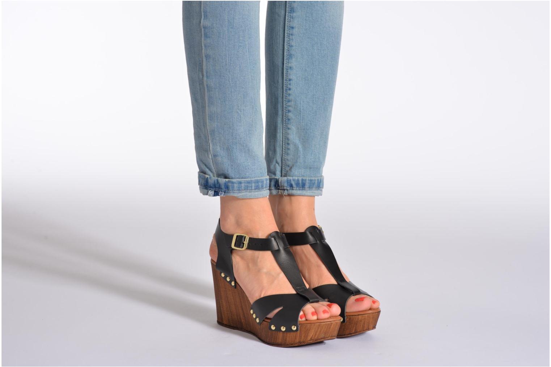 Sandales et nu-pieds Tamaris Sonna Noir vue bas / vue portée sac