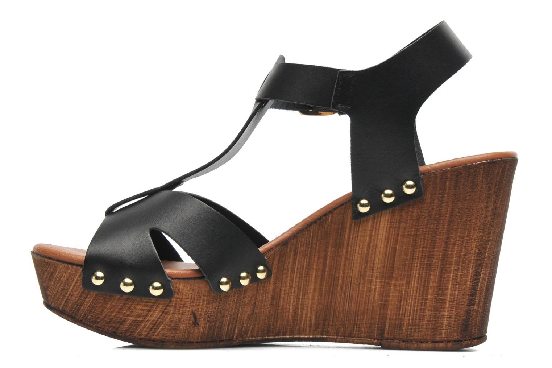 Sandales et nu-pieds Tamaris Sonna Noir vue face