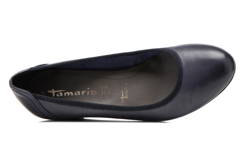Escarpins Tamaris Samuel Bleu vue gauche