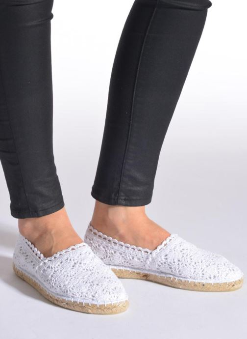 Espadrilles Colors of California Lara White view from underneath / model view