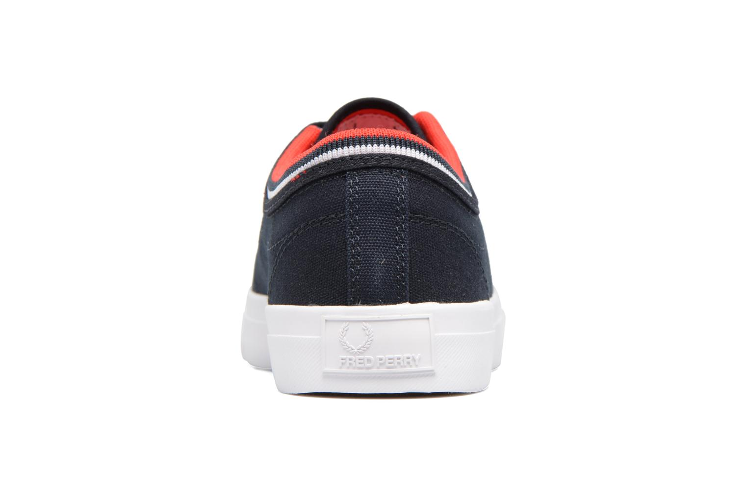 Baskets Fred Perry Kendrick Tipped Cuff Canvas Bleu vue droite