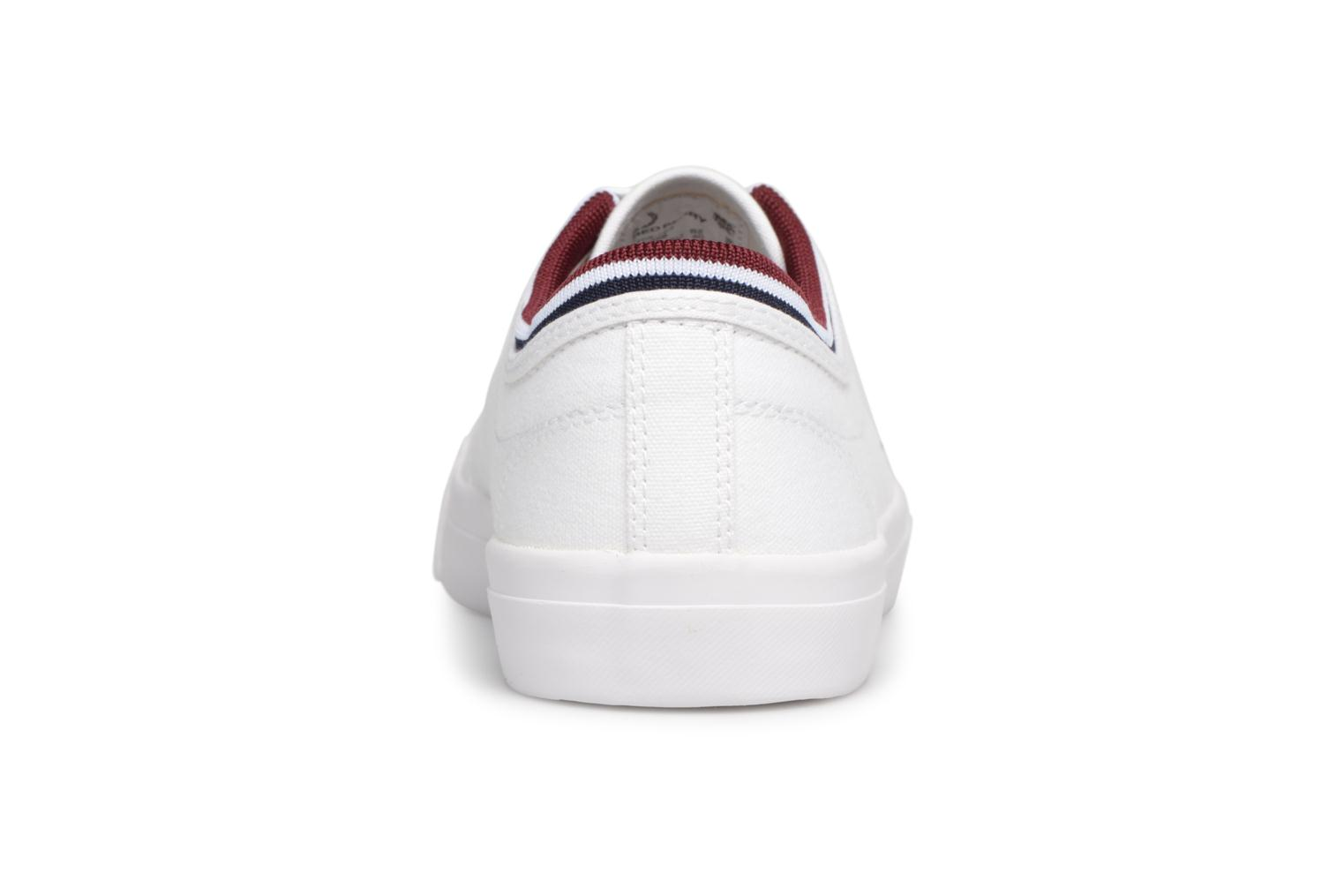 Baskets Fred Perry Kendrick Tipped Cuff Canvas Blanc vue droite