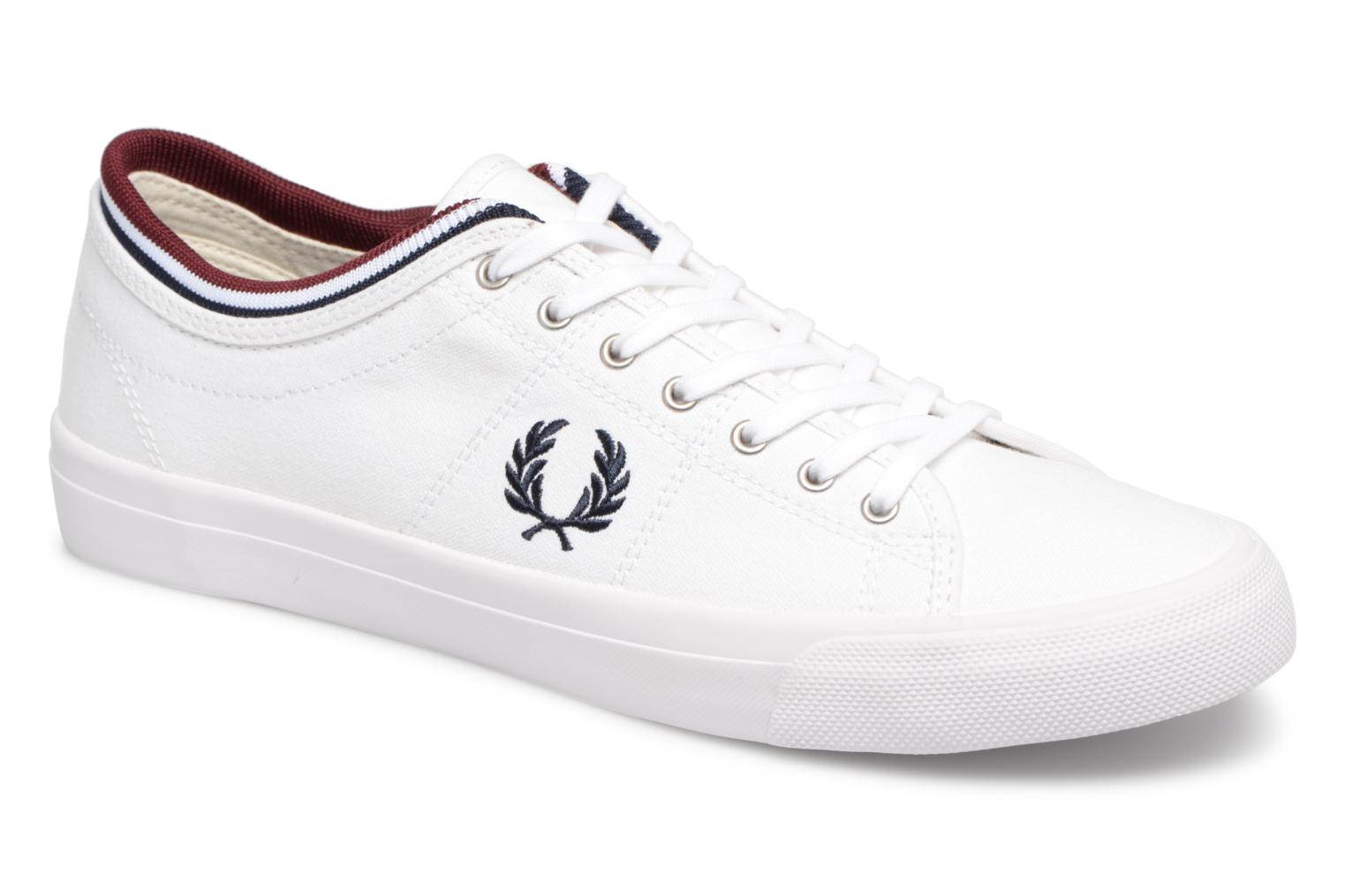 Baskets Fred Perry Kendrick Tipped Cuff Canvas Blanc vue détail/paire