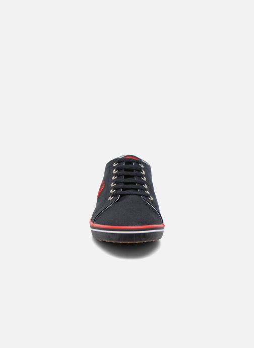 Baskets Fred Perry Kingston Twill Bleu vue portées chaussures