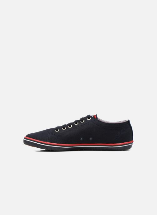 Baskets Fred Perry Kingston Twill Bleu vue face