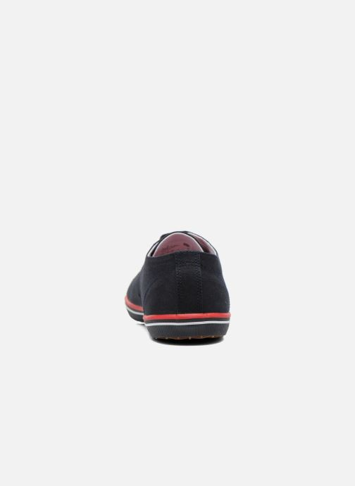 Baskets Fred Perry Kingston Twill Bleu vue droite