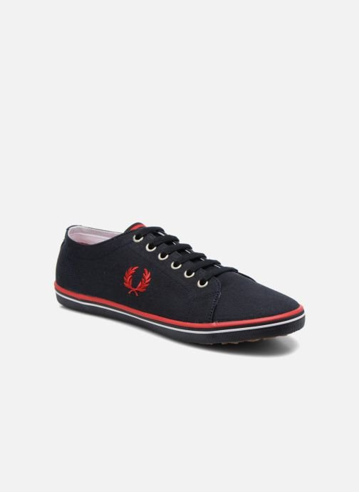 Baskets Fred Perry Kingston Twill Bleu vue détail/paire