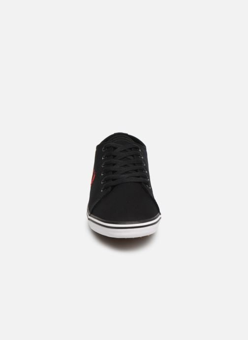 Baskets Fred Perry Kingston Twill Noir vue portées chaussures