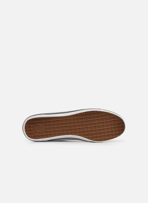 Baskets Fred Perry Kingston Twill Blanc vue haut