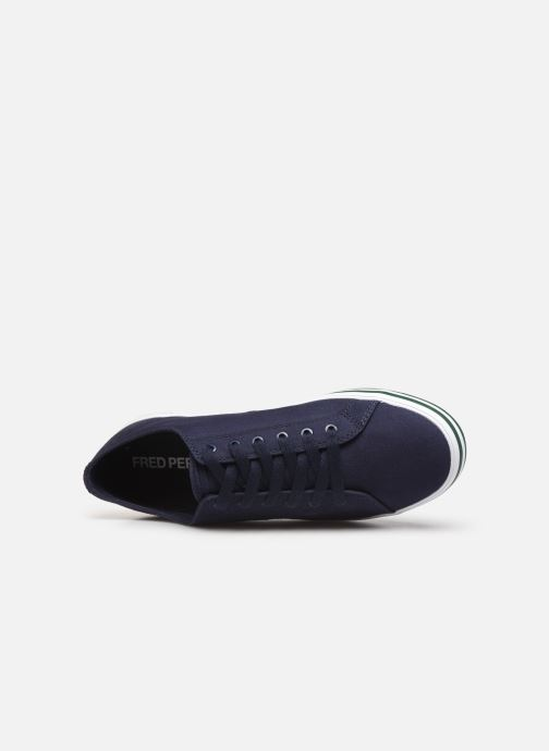 Baskets Fred Perry Kingston Twill Bleu vue gauche