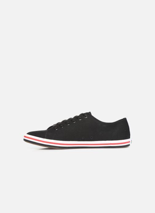 Sneakers Fred Perry Kingston Twill Zwart voorkant