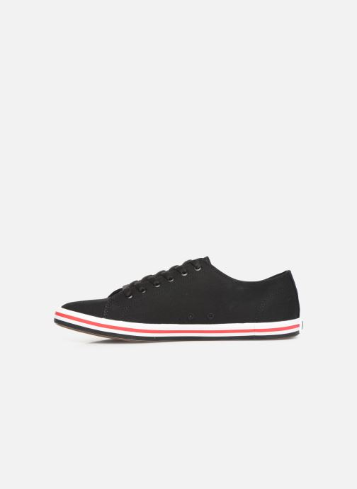 Sneakers Fred Perry Kingston Twill Zwart voorkant