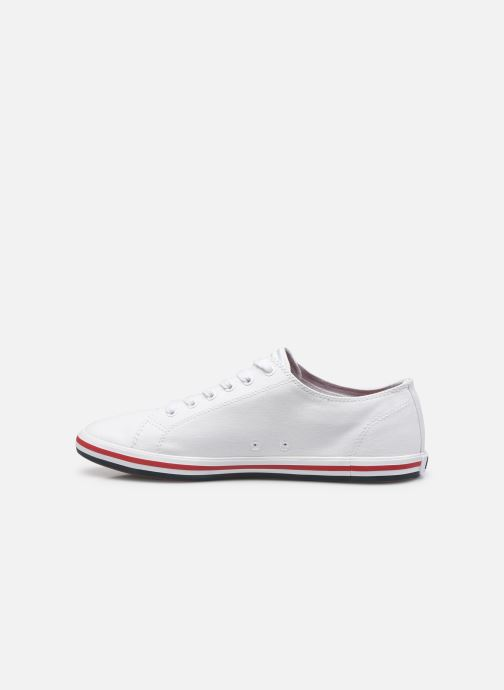 Baskets Fred Perry Kingston Twill Blanc vue face
