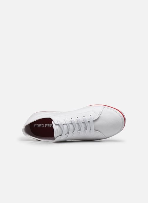 Baskets Fred Perry Kingston Twill Blanc vue gauche