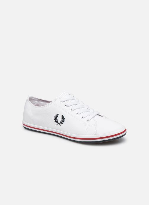 Baskets Fred Perry Kingston Twill Blanc vue détail/paire