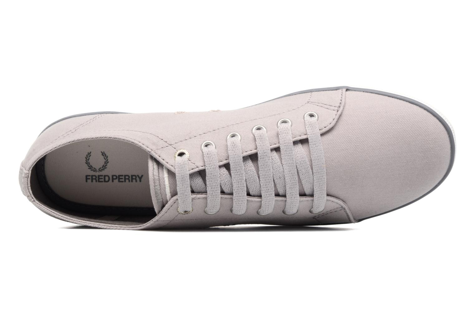 Baskets Fred Perry Kingston Twill Gris vue gauche