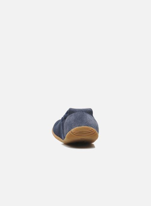 Pantuflas Giesswein Söll Slim Fit Azul vista lateral derecha