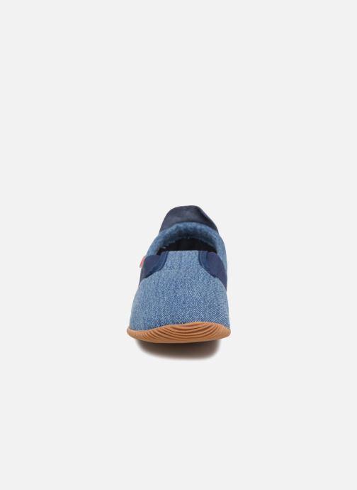 Chaussons Giesswein Söll Slim Fit Bleu vue portées chaussures