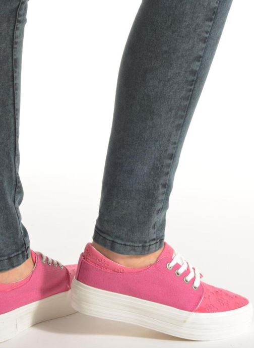 Trainers Coolway Dea Pink view from underneath / model view