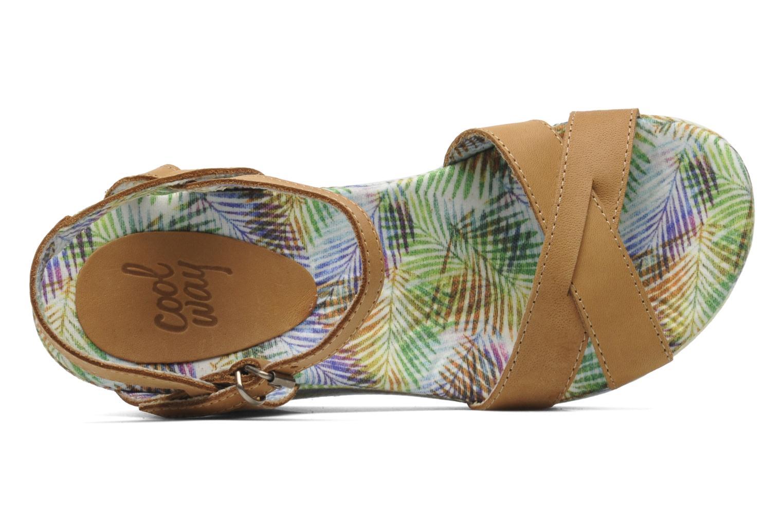 Sandales et nu-pieds Coolway Galatea Marron vue gauche