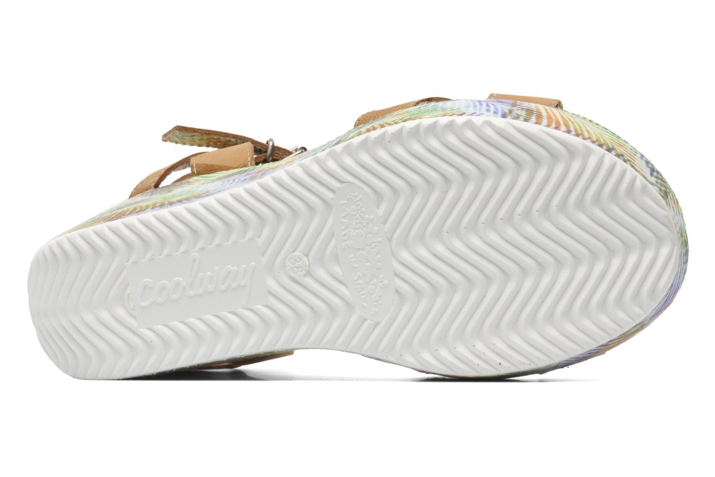 Sandales et nu-pieds Coolway Galatea Marron vue haut