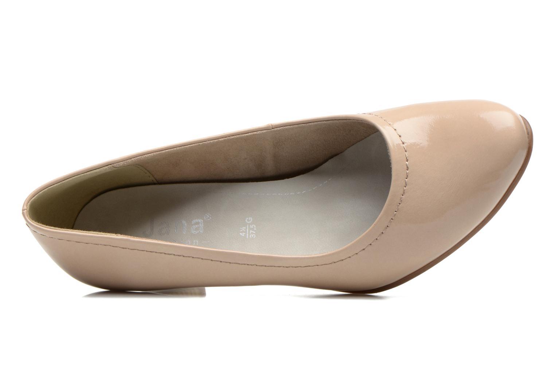 Escarpins Jana shoes Bossy Beige vue gauche