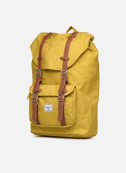 Rucksäcke Herschel Little America mv gelb schuhe getragen