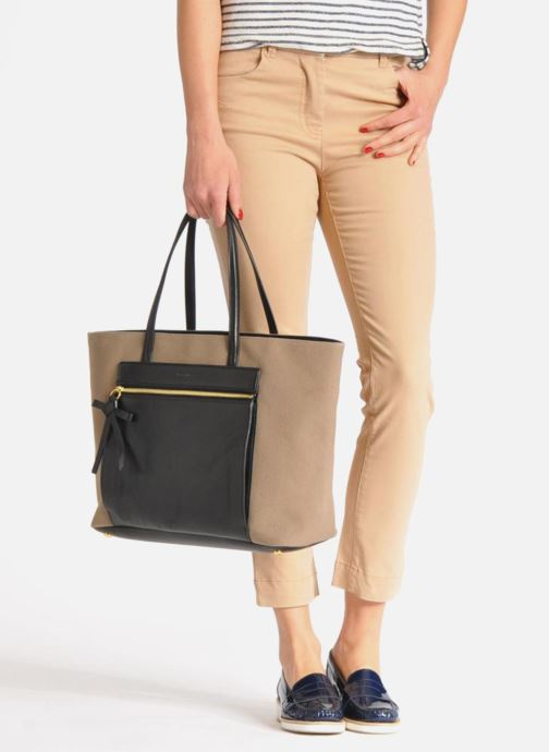 Handbags Sonia Rykiel AMBROISE Cabas Brown view from underneath / model view
