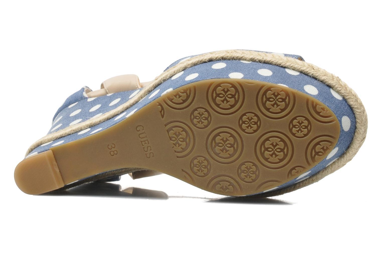 Sandales et nu-pieds Guess Odin Bleu vue haut