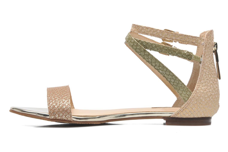 Sandales et nu-pieds Guess Jill Or et bronze vue face