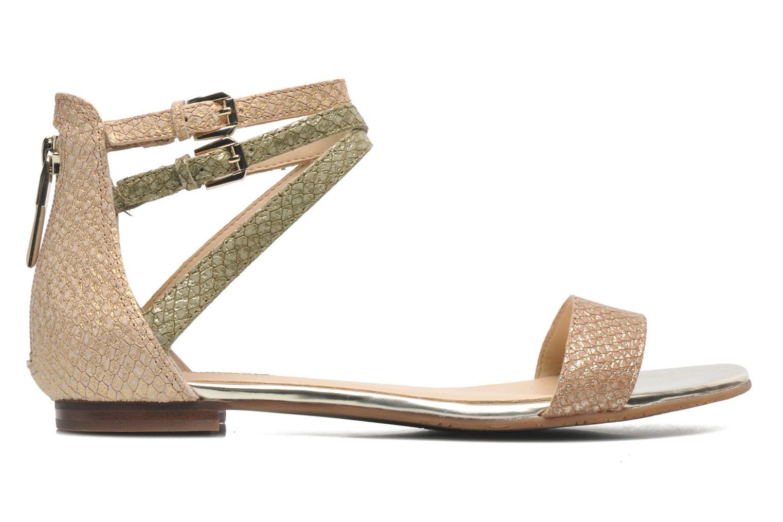 Sandales et nu-pieds Guess Jill Or et bronze vue derrière